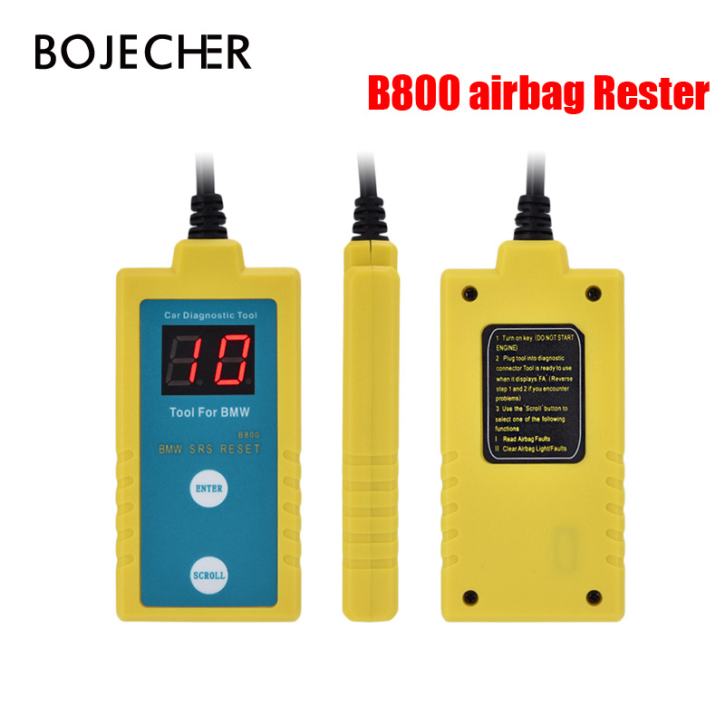 B800 SRS Airbag Scanner Reset OBD2 <font><b>Diagnostic</b></font> Tool for <font><b>BMW</b></font> Fit E36 E46 E34 E38 E39 Car Vehicle Airbag Resetter Car Repair Tool image
