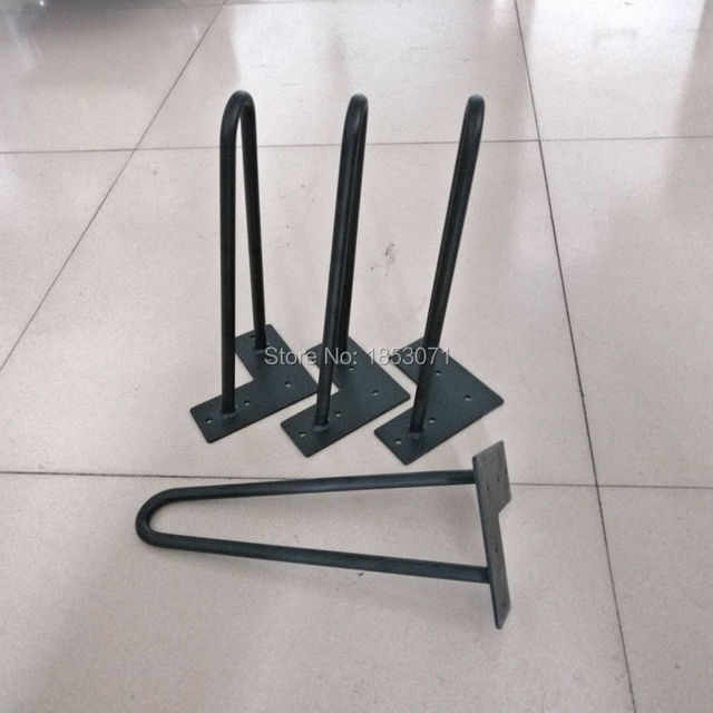 "Free Shipping! 4-Pack 12"" 2-rod heavy duty Hairpin Legs for table stool bed sofa and other furniture"