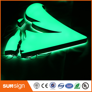 Suzhou indoor advertising mini led channel illuminated letters sign