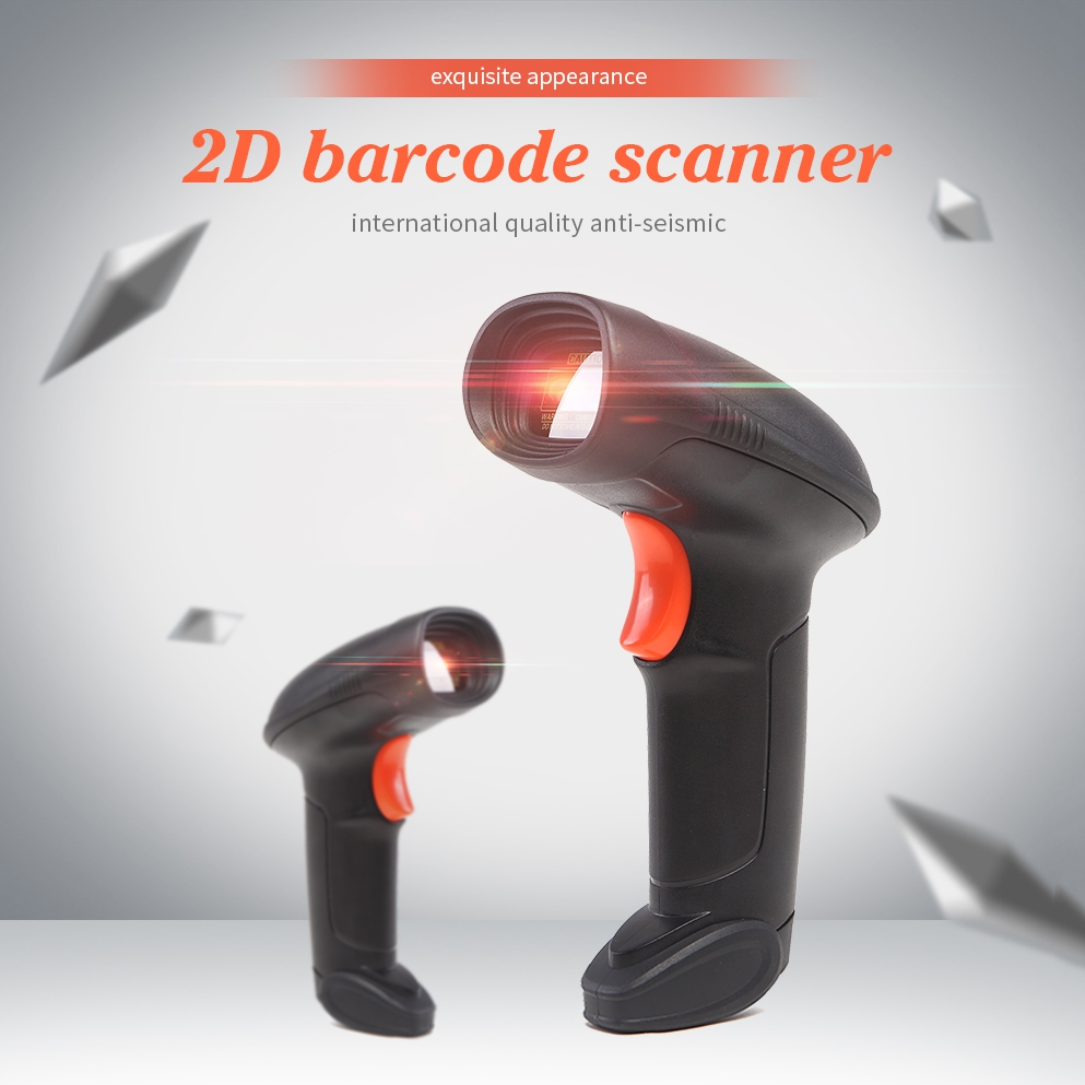 2D Barcode Scanner 1D/2D Handheld Document Scanner CMOS Sensor USB QR Barcodes Scanner CCD Reader цены онлайн