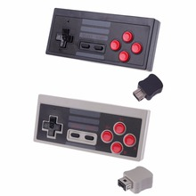 High QualityBrand  Mini 2.4GHz Wireless 5M Receive Game Controller Gamepad For NES Classic Edition Game Accessoy 8bitdo mod kit for nes classic edition controller diy nes classic controller to bluetooth gamepad