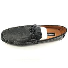 Summer Autumn Slip-On Men Loafers Men Genuine Leather Shoes Luxury Brand Men Shoes Designer Flats Men Boat Shoes
