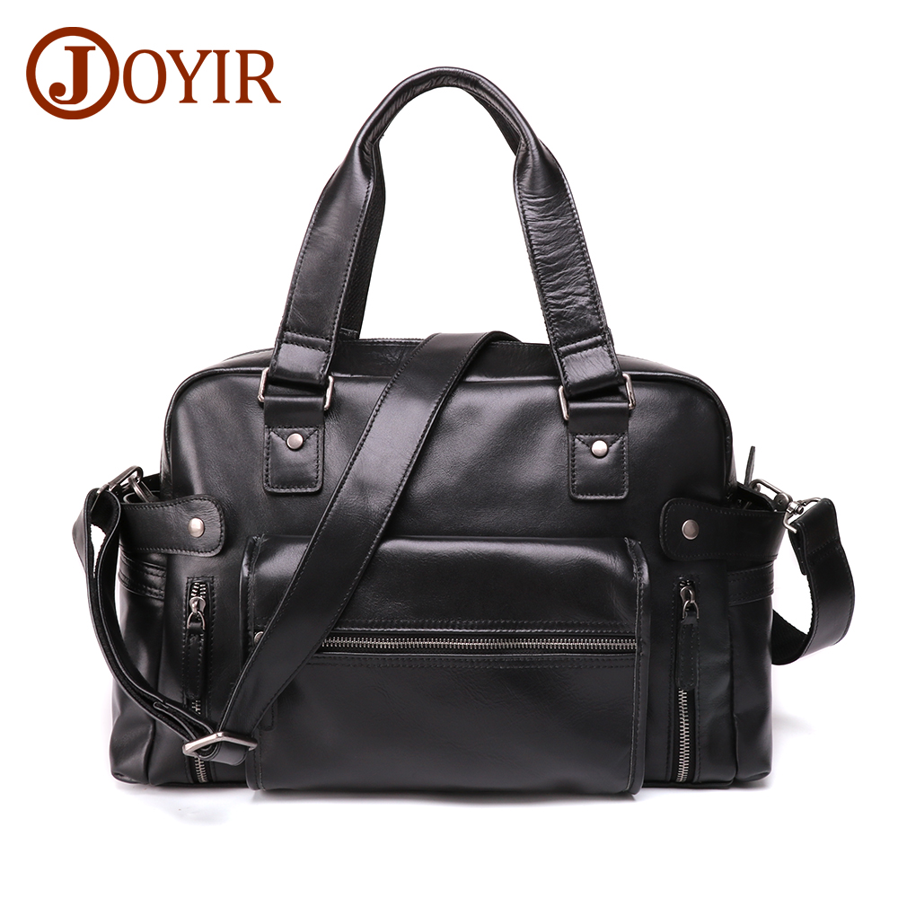 JOYIR New Design Men's Briefcase Genuine Leather Briefcase Fashion Male Messenger Shoulder Bag 15