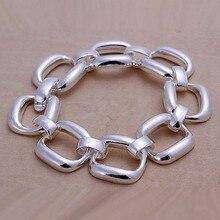 2016 Hot Silver Color Jewelry bracelet, silver plated wristlet vintage-accessories Square Bracelet /RQLTRWNH RUAUFVCMI