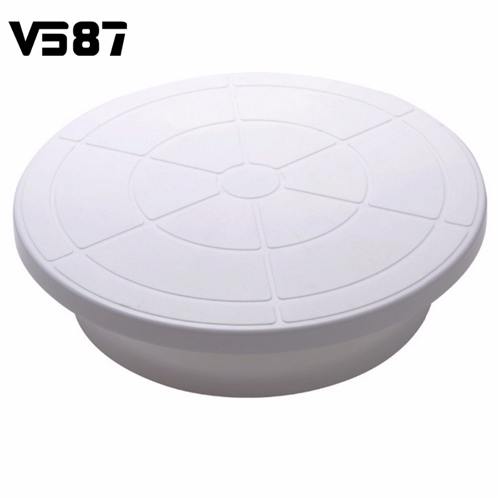 28cm Kitchen Icing Rotating Turntables Display Stand Plastic Lightweight Bakeware Household Bakery Cake Decorating Tools