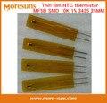 Rápido Envío Gratis 5 unids/lote Thin film MF5B tipo SMD termistor NTC 10 K 1% 3435 25 MM longitud NTC Sensor