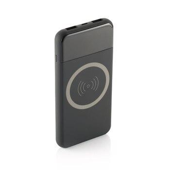 QI inalámbrico cargador de banco de potencia 10000 mAh portátil USB Dual con pantalla Digital de batería externa banco de energía para iphone X 8 samsung