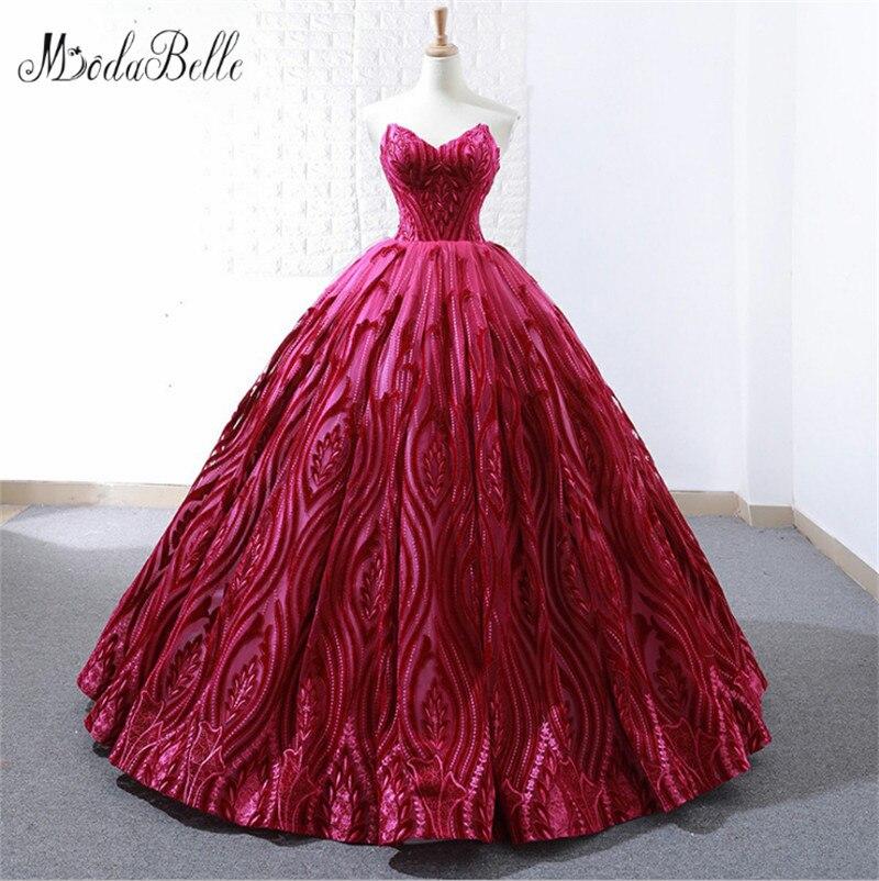 Modabelle Vintage robe de bal sans manches sur mesure Quinceanera robes élégantes vestidos de 15 anos rouge swieta robes de bal