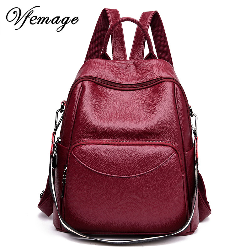 Vfemage Feminina New Fashion Leather Backpack Women Multifunction Backpack Female Small Travel Bagpack Girl School Bag Sac A DosVfemage Feminina New Fashion Leather Backpack Women Multifunction Backpack Female Small Travel Bagpack Girl School Bag Sac A Dos