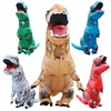 INFLATABLE Dinosaur T REX Costume Jurassic World Park Blowup Dinosaur Halloween Inflatable Costume Party Costume For