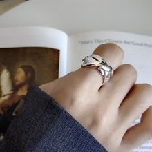 خواتم من LouLeur مصنوعة من الفضة الإسترليني عيار 925 تحتوي على ثلاث خواتم بإبزيم متداخل وأنيق وخلاقة من الفضة للنساء مجوهرات للمهرجانات