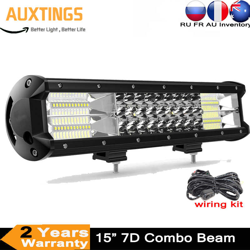 15inch Led Light Bar Led Bar Work Light For Driving Offroad 4x4 Atvoff Road Boat Car Tractor Truck 4x4 Suv Atv 12v 24v