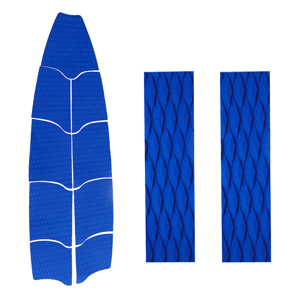 MagiDeal 11Pcs Surf Water Sports Longboard Surfboard Tail Pad Traction Full Deck Grip 3 Colors