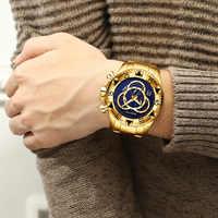 2018 Homens Top Marca De Luxo Relógios de Ouro de Negócios Relógio de Quartzo de Aço À Prova D' Água Esporte Militar relógio de Pulso Masculino Relogio masculino