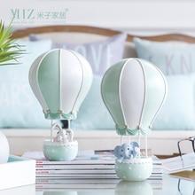 Miz 1 Piece Home Decoration Accessory Hot Air Balloon Birthday Gift for Children Animal Figurine Toy Kids