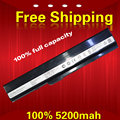 5200mah  6 cell laptop battery for Asus K52J K52F A52 A52J K42 K42F K52F K52J K52N A31-K52 A32-K52 A41-K52 A42-K52
