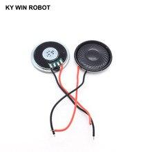 2pcs/lot New Ultra-thin speaker 2 ohms 8 watt 2W 8R Diameter 40MM 4CM thickness 5MM with wire length 8CM