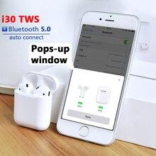 I30 Tws auricular Bluetooth auricular inalámbrico Bluetooth Mini auriculares Bluetooth auriculares con caja de carga para i9 i11 i20 tws W1