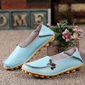 Zplover Women Flat Shoes Genuine Leather Shoes Women Casual Shoes Mocassin Femme Driving Casual Footwear Size 34-44