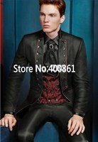 Classic Style One Button Black Groom Tuxedos Groomsmen Mens Wedding Suits Prom Dress (Jacket+Pants+Vest+Tie) NO:246