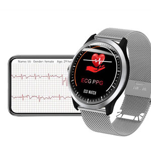 Image 2 - 2019N58 High end ECG PPG Smart Watch with Electrocardiograph Ecg Display Holter Ecg Heart Rate Monitor Blood Pressure Smartwatch