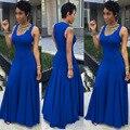 2017 Nova Koop Exotische designer mouwloze lange jurk sexy dames maxi jurk elegante bandage MC5224 jurk