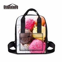 Dispalang портативный путешествия вскользь мешок для женщин симпатичные мороженое шоколад bookbag для детей рюкзак для ноутбука для студенческих девушек