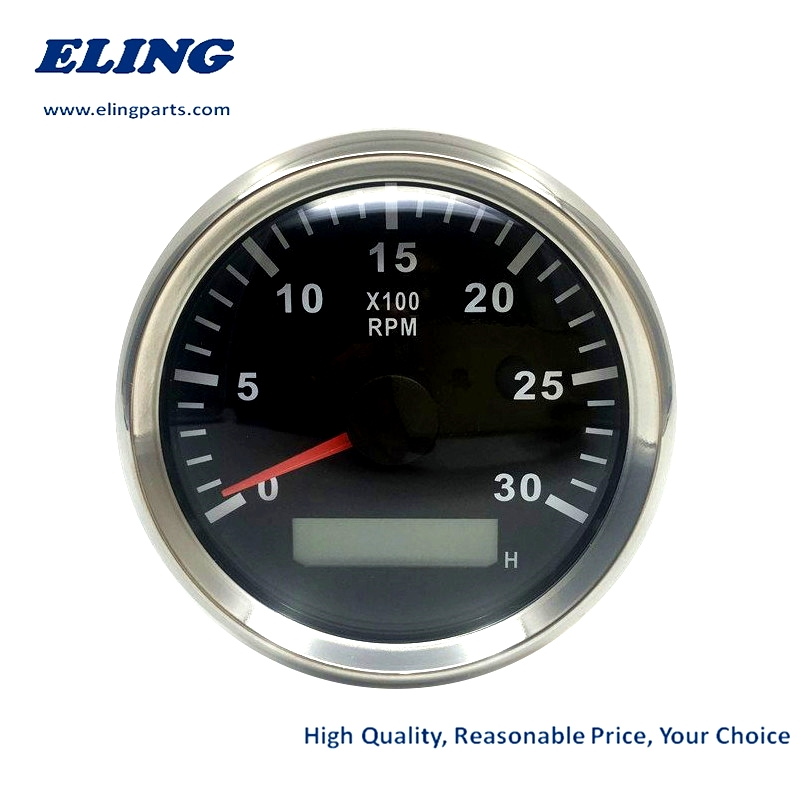 ELING Waterproof 0-6000RPM Tachometer Gauge for Car Truck Boat Yacht with 8 Colors Backlight 85mm