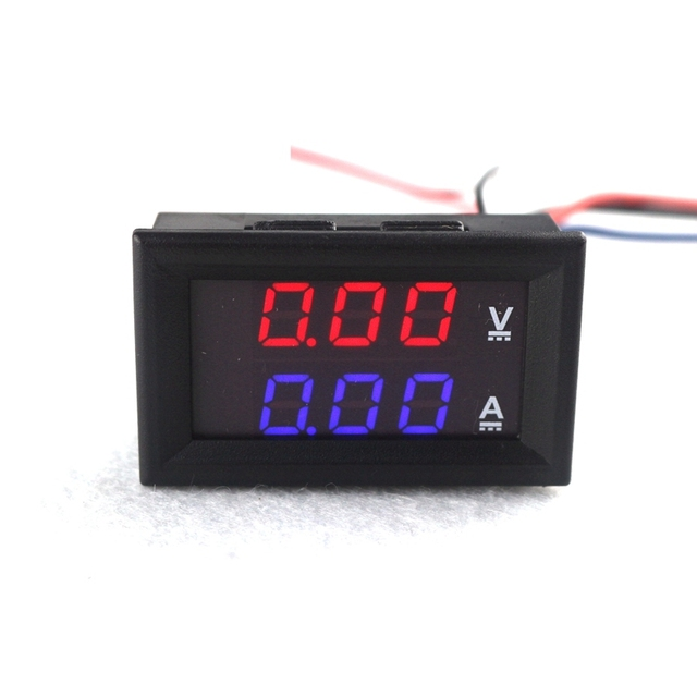 Dc 0 100v 10a Digital Voltmeter Ammeter Dual Display 10a
