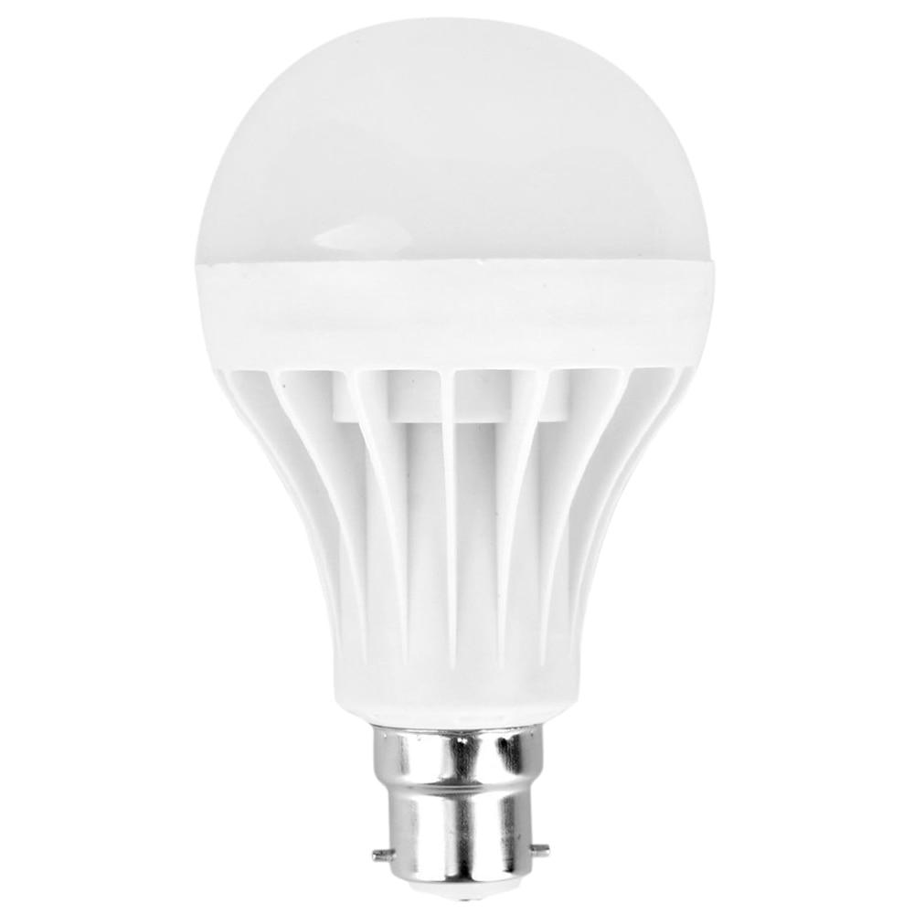 B22 3W/5W/7W/9W/12W/15 W LED Energy Saving Lamp Of Bayonet Bulb 6500 K Of White Light 220V
