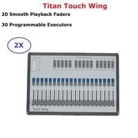 2 XLot Сенсорное крыло света DMX консоль регулятор сценического освещения Поддержка всех Titan консоль Touchwing Tiger Touch Wing DMX консоль