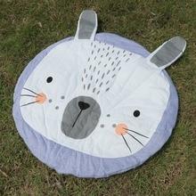 Children s baby game blanket ins burst pink rabbit crawling mat cart was conditioned by children