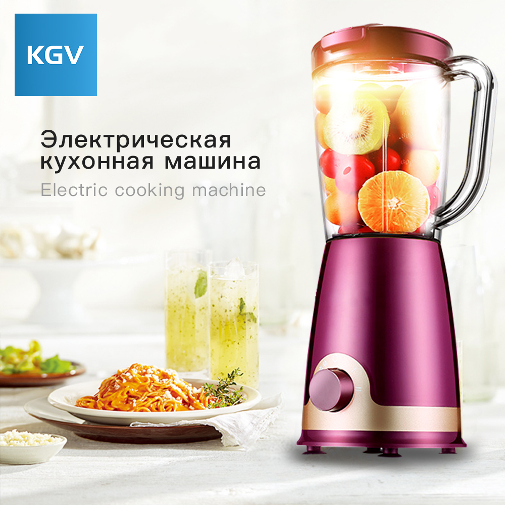 KGV blender Desktop electric mixer food multifunction juicer vegetable fruit Ground meat Household processor High capacity Fully commercial blender mixer juicer power food processor smoothie bar fruit electric blender ice crusher