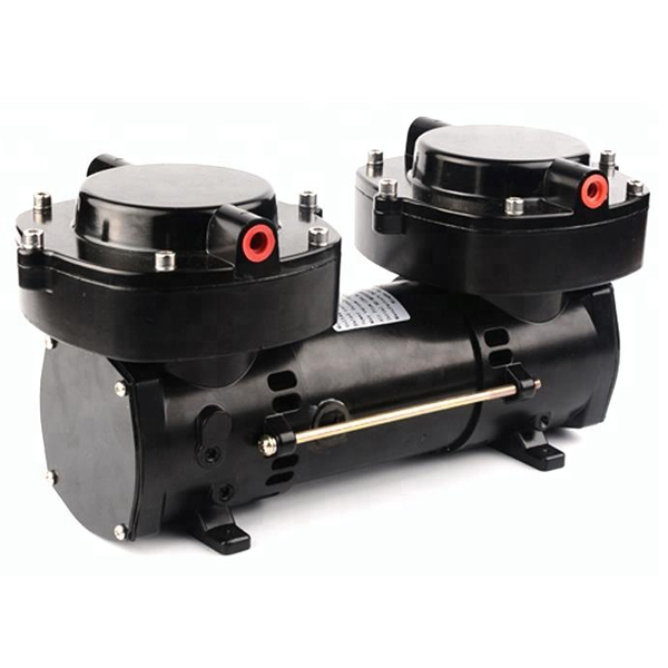 GZ70B 12 DC12v 24v Oil Free Electric Diaphragm Vacuum Pump 136LPM flow 160w Double cylinder compressor