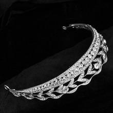 Nueva corona de la boda joyería de la cabeza retro Wedding Bridal Crystal Rhinestone Tiara Celada de la Corona Pelo de La Novia 1055 del pelo de la joyería
