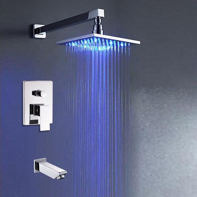 Chrom Poliert In Wand Badewanne Dusche Wasserhahn Messing Badewanne