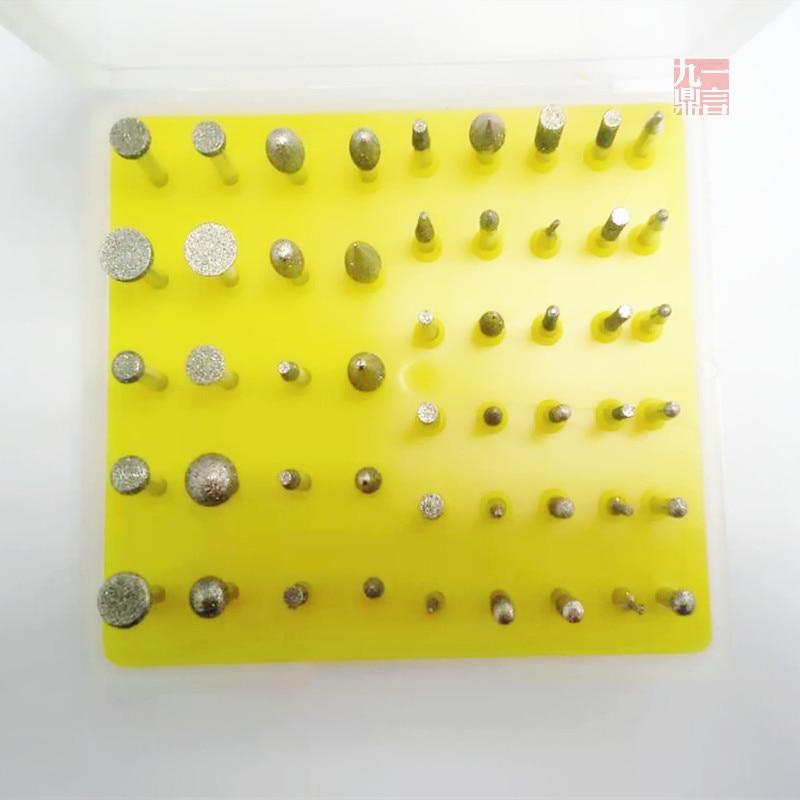 Sbavature a punta montate diamante 50pcs / set / lot per la - Utensili abrasivi - Fotografia 2