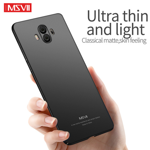 MSVII Mobile Phone Cases for Huawei Mate 10 Case Ultra-thin Plain Hard Covers for Huawei Mate 10 Pro Cover Anti-fingerprint Karachi