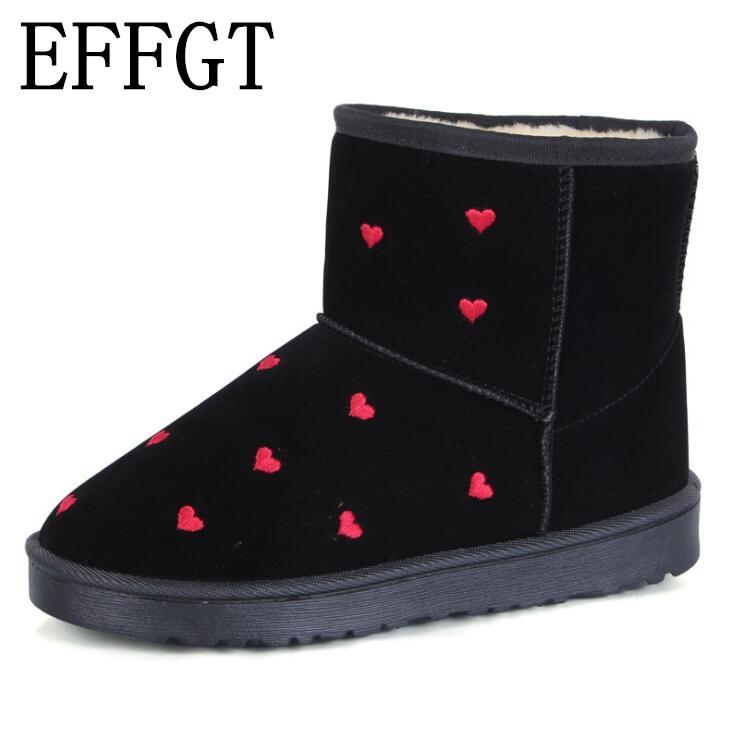 Snow Quality High Size Thick Effgt arancione 2018 Nero V574 Shoes Winter marrone Cotton Boots Warm 36 40 wIq5wAx1
