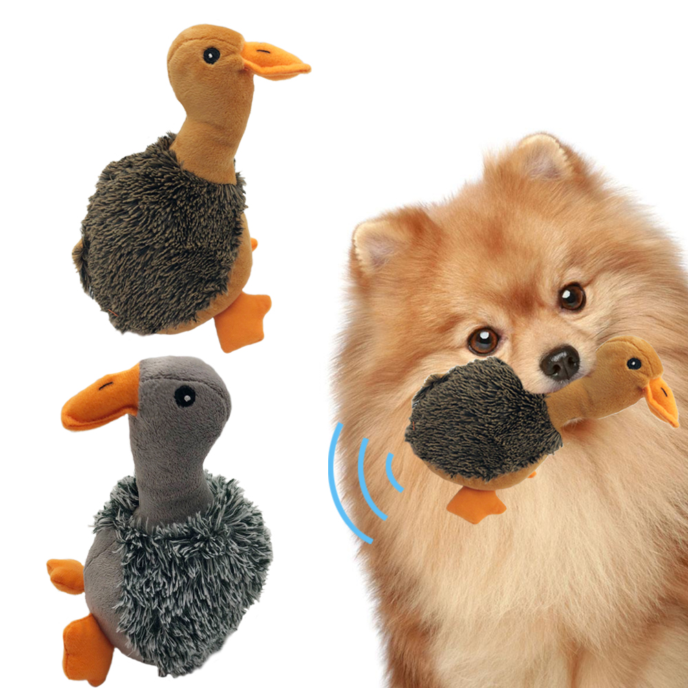 Miaoowa 1pc Dog Cat Puppy Plush Toy Squeaky Sound Duck Design Dog Plush Toy or Pet Dogs Chew Aqueaker Design for Dogs ...