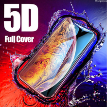 Wangsenna 5D Full Cover Tempered Glass for iPhone X 7 6s Plus XS Max Screen Protector XR 8 Cold Carving Curved Edge