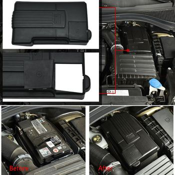 1 Pc Auto Car Engine Battery Dustproof Cover Negative Electrode Waterproof Protective Cover Case For Volkswagen Tiguan L image