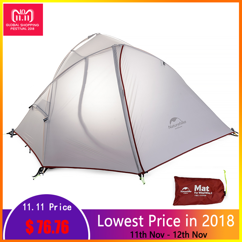 Naturehike 1 2 Person Ultralight Tent Waterproof Double layer 3 Season Single Tents Outdoor Camping Tourist Tents With Mat naturehike outdoor camping tent 2 person 3 season double layer barraca camping tente waterproof ultralight tents