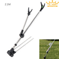 2 1m Adjustable Stainless Steel Fish Rod Stand Bracket Telescoping Angle Fishing Pole Holder