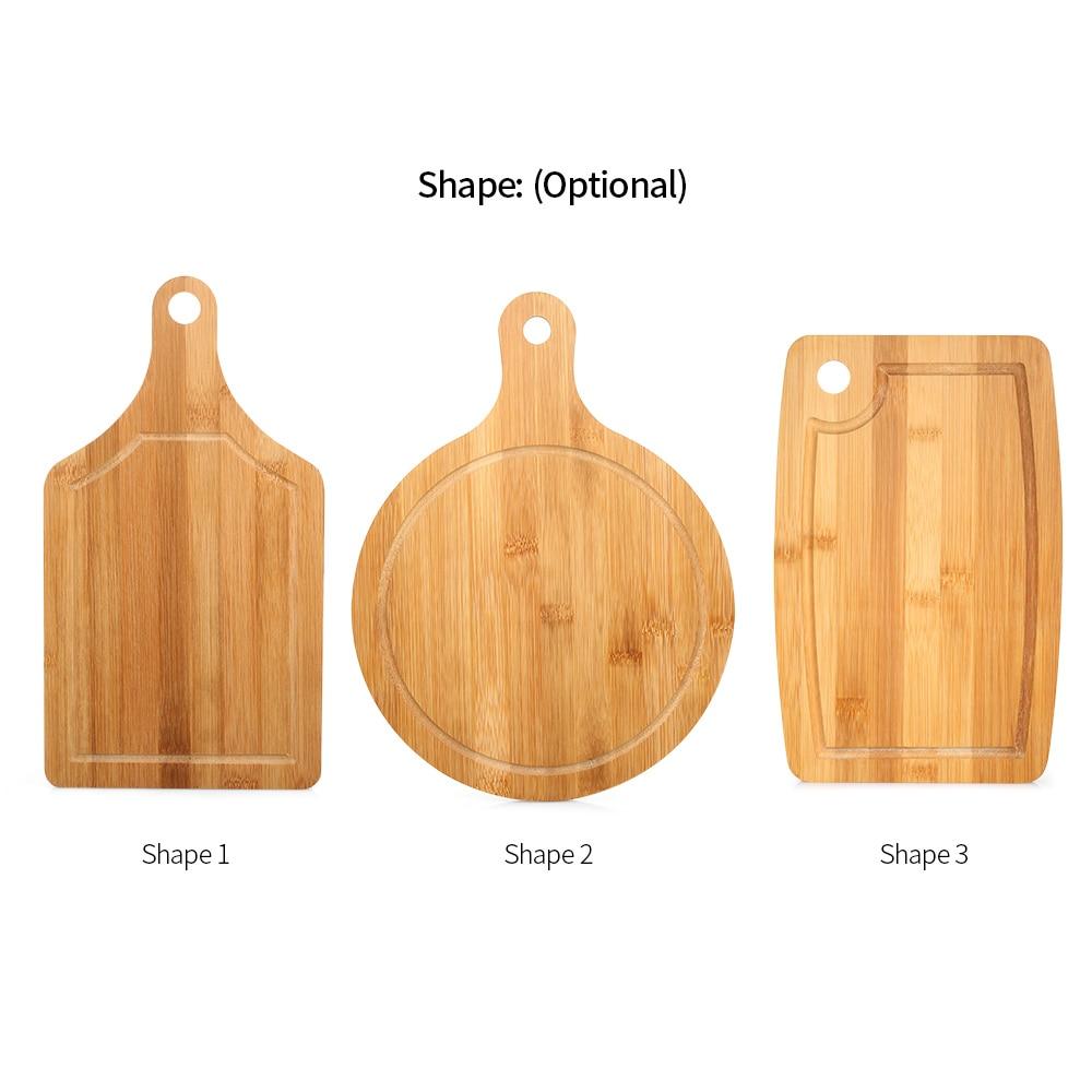 HOMGEEK Bamboo Chopping Block Pizza Plate Natural Cutting Board Kitchen durable Chopping Board Fruits Vegetables Cooking Tool(China)