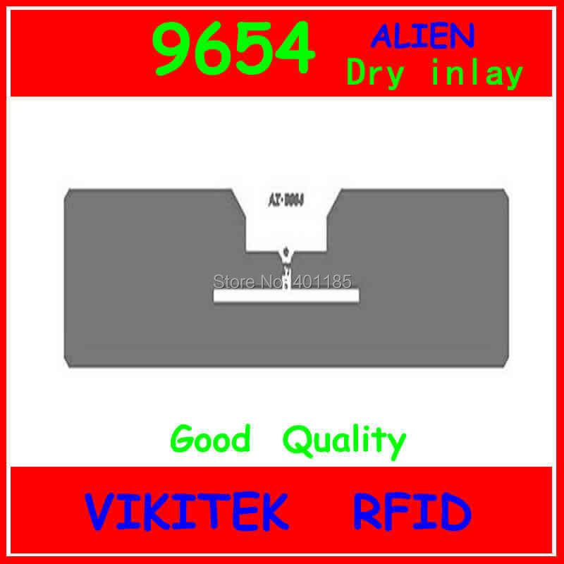 Alien authoried 9654 UHF RFID dry inlay 860-960MHZ Higgs3 915M EPC C1G2 ISO18000-6C can be used to RFID tag and label