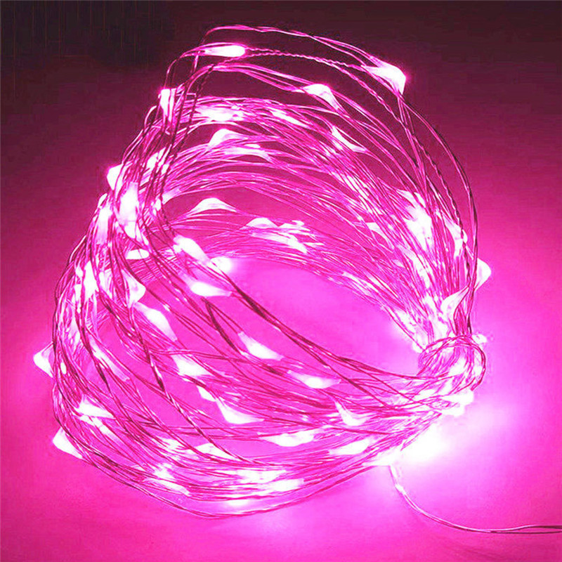 1PC 2M 20Leds Strings Copper Wire 2XAA Battery Operated Christmas Wedding Party Decoration LED String Fairy Lights