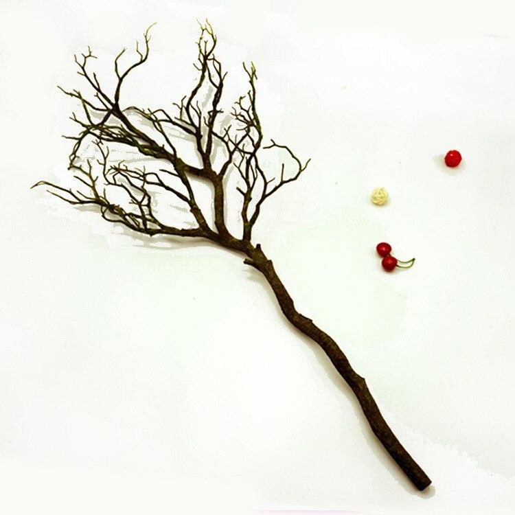 100 см искусственные сухие ветки, белый большой размер, ветка, искусственный цветок, украшение для дома, отеля, сделай сам, исходный материал - Цвет: 1 pcs