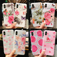 Soft Flower Phone Case for Xiaomi Redmi Note 7 5 6 Pro 5A Prime 4X Xiomi Mi 9 Mi9 Mi8 Mi 8 A2 A1 Relief Cover Flamingo Fruit