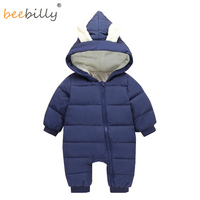 Baby Clothing 2017 New Baby Boy Clothes Spring Autumn Coat Rabbit Ear Stlye Baby Rompers Overalls